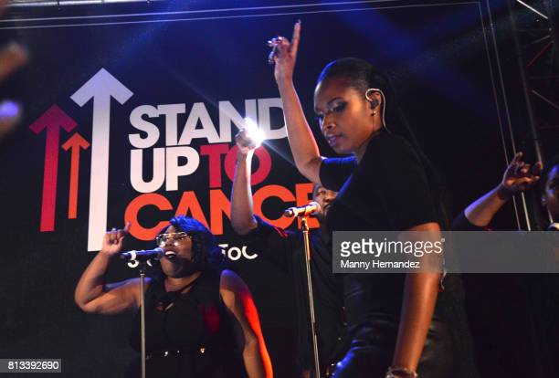 Jennifer Hudson performs at SU2C at The Masterpass House at the W South Beach on July 8 2017 in Miami Beach Florida