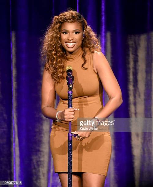 Jennifer Hudson performs at the ACLU's Annual Bill of Rights Dinner at the Beverly Wilshire Hotel on November 11 2018 in Beverely Hills California