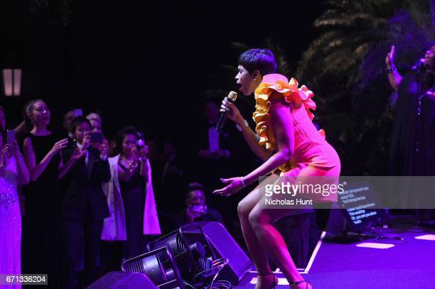 42ffee2d4066 Jennifer Hudson performs at the Tiffany Co 2017 Blue Book Collection Gala  at ST Ann s Warehouse