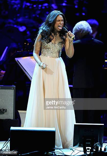 Jennifer Hudson performs during the 2012 Concert for the Rainforest Fund at Carnegie Hall on April 3 2012 in New York City