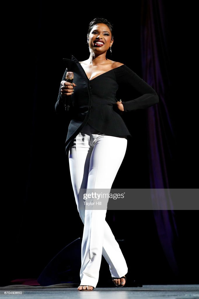 Jennifer Hudson performs during the 2017 Tribeca Film Festival Opening Gala premiere of 'Clive Davis: The Soundtrack of our Lives' at Radio City Music Hall on April 19, 2017 in New York City.