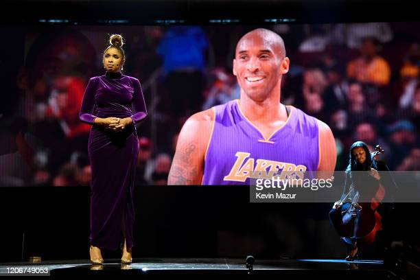 Jennifer Hudson performs during the 69th NBA AllStar Game at United Center on February 16 2020 in Chicago Illinois