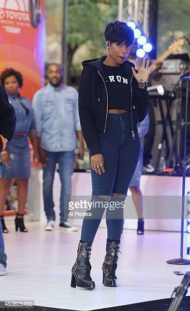 Jennifer Hudson performs on NBC's 'Today' show at Rockefeller Plaza on August 19 2014 in New York City
