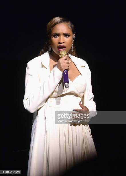 Jennifer Hudson performs onstage at CinemaCon 2019 Universal Pictures Invites You to a Special Presentation Featuring Footage from its Upcoming Slate...