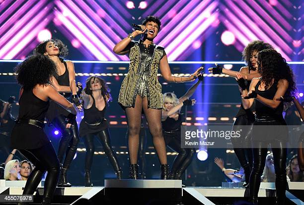 Jennifer Hudson performs onstage at Fashion Rocks 2014 presented by Three Lions Entertainment at Barclays Center of Brooklyn on September 9 2014 in...