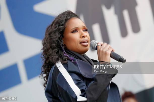 Jennifer Hudson performs onstage at March For Our Lives on March 24 2018 in Washington DC