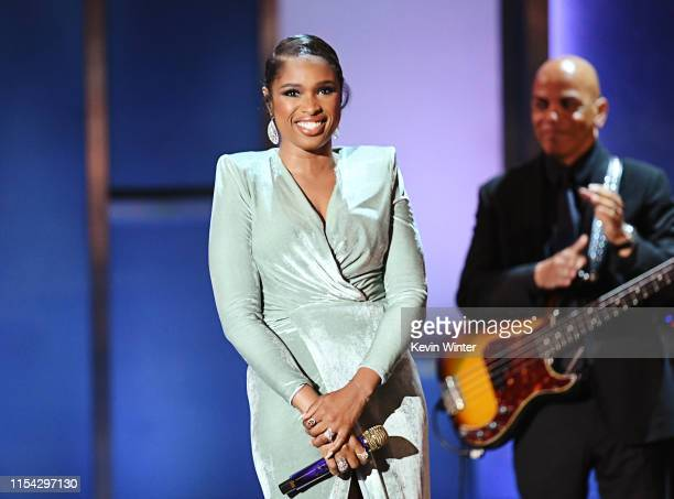 Jennifer Hudson performs onstage during the 47th AFI Life Achievement Award honoring Denzel Washington at Dolby Theatre on June 06 2019 in Hollywood...