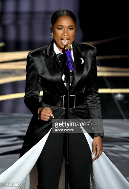 Jennifer Hudson performs onstage during the 91st Annual Academy Awards at Dolby Theatre on February 24 2019 in Hollywood California