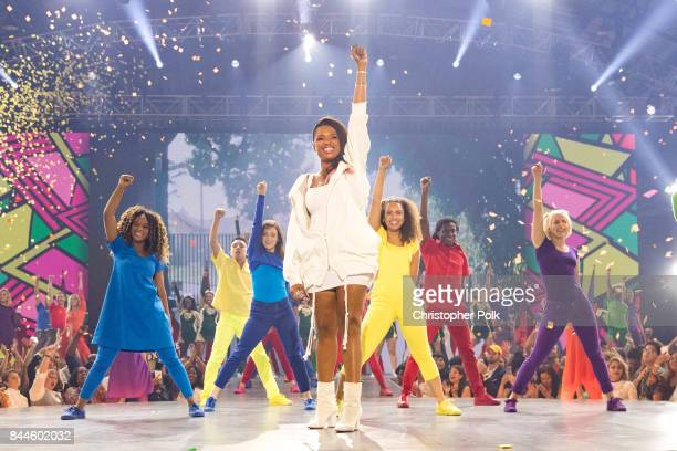 Jennifer Hudson performs onstage during the XQ Super School Live presented by EIF at Barker Hangar on September 8 2017 in Santa California