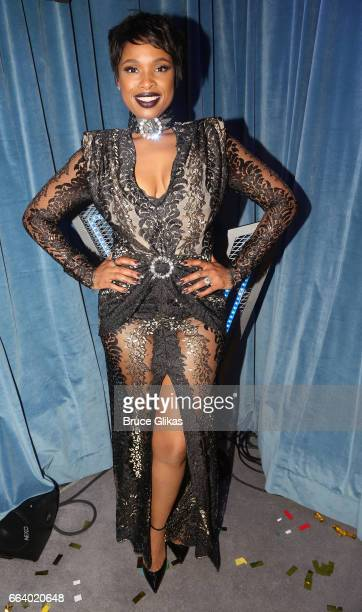 Jennifer Hudson poses backstage at The Voice Uk 2017 Final at The LH2 Studios on April 2 2017 in London England