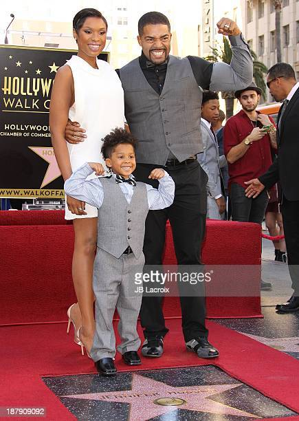 Jennifer Hudson poses with David Daniel Otunga Sr David Daniel Otunga Jr as she is honored with a Star on The Hollywood Walk of Fame on November 13...