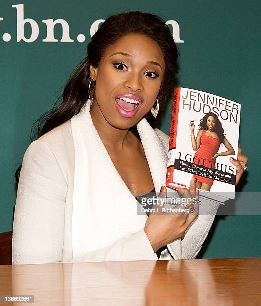 Jennifer Hudson promotes I Got This How I Lost What Weighed Me Down And Found Myself at Barnes Noble 5th Avenue on January 10 2012 in New York City