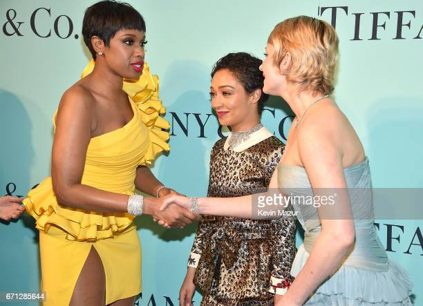 Jennifer Hudson Ruth Negga and Haley Bennett attend Tiffany Co Celebrates The 2017 Blue Book Collection at ST Ann's Warehouse on April 21 2017 in New...