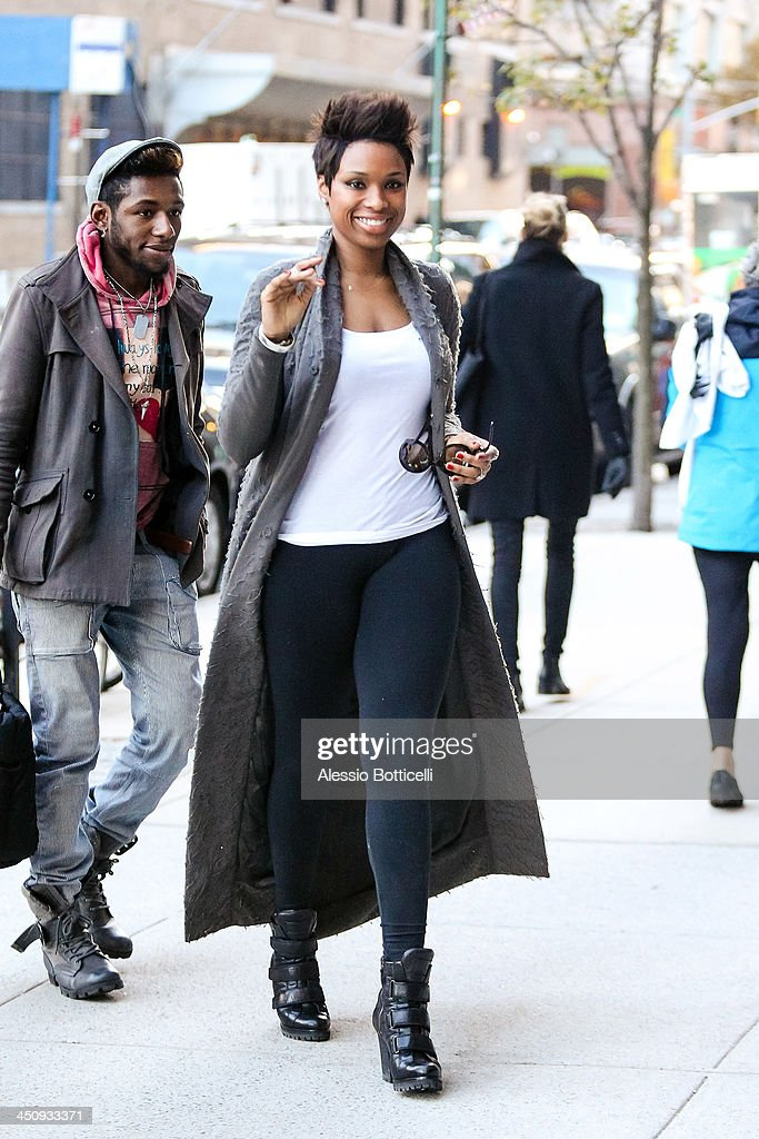 Jennifer Hudson seen shopping at Frye boutique in SoHo on November 20, 2013 in New York City.