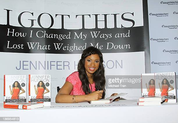 """Jennifer Hudson signs copies of her new memoir """"I Got This"""" held at the Los Angeles Weight Watchers center on January 13, 2012 in Culver City,..."""