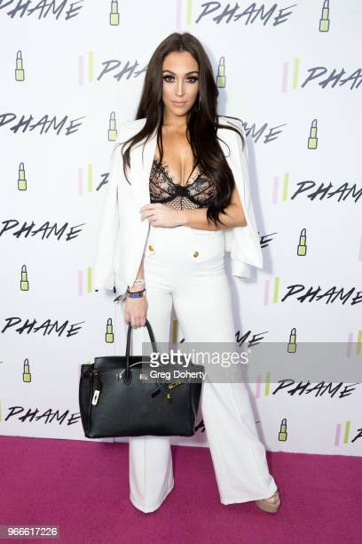 Jennifer Janelle attends the PHAME Expo 2018 on June 2, 2018 in Los Angeles, California.