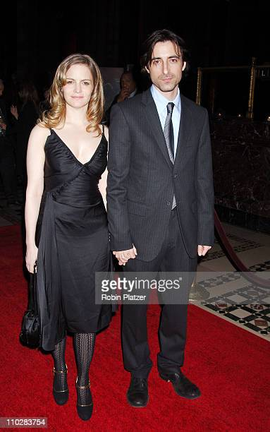 Jennifer Jason Leigh and husband Noah Baumbach winner Best Screenplay for The Squid and The Whale