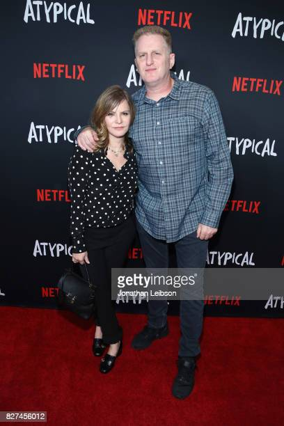 Jennifer Jason Leigh and Michael Rapaport attend the Netflix original series 'Atypical' special screening on August 7 2017 in Los Angeles California