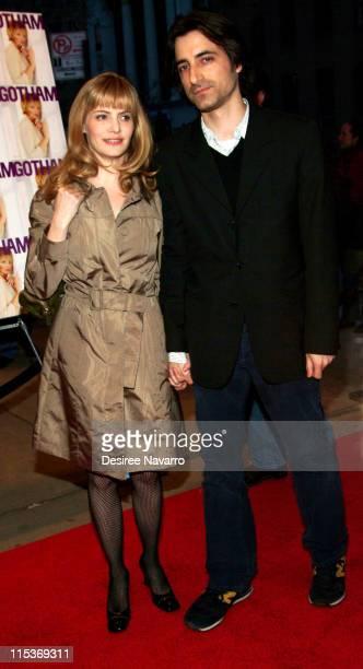 Jennifer Jason Leigh and Noah Baumbach during 'Palindromes' New York City Premiere Arrivals at Chelsea West Theater in New York City New York United...