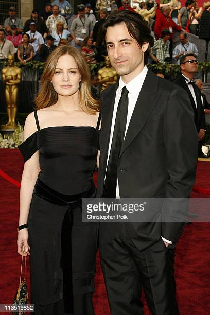 """Jennifer Jason Leigh and Noah Baumbach, nominee Best Original Screenplay for """"The Squid and the Whale"""""""