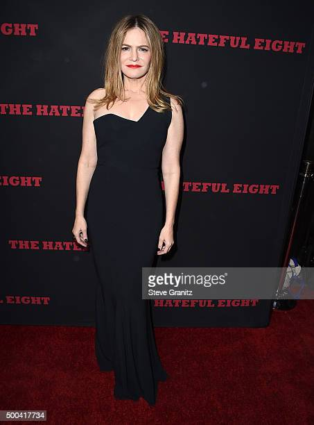Jennifer Jason Leigh arrives at the Premiere Of The Weinstein Company's 'The Hateful Eight' at ArcLight Cinemas Cinerama Dome on December 7 2015 in...