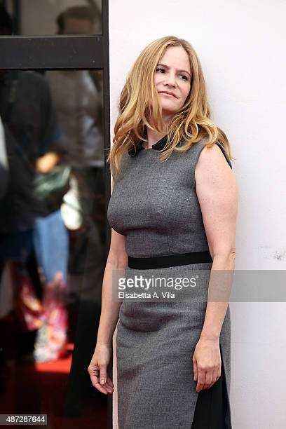 Jennifer Jason Leigh attends a photocall for 'Anomalisa' during the 72nd Venice Film Festival at Palazzo del Casino on September 8 2015 in Venice...