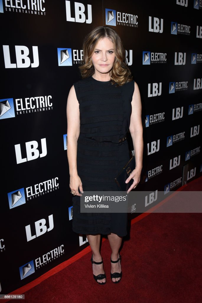 Jennifer Jason Leigh attends the Los Angeles Premiere of LBJ at ArcLight Hollywood on October 24, 2017 in Hollywood, California.