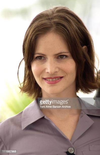 Jennifer Jason Leigh during Cannes 2001 Anniversary Party Photo Call at Palais Du Festivals in Cannes France