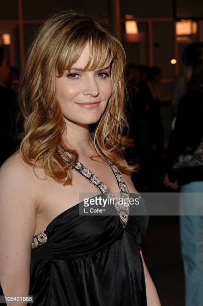 Jennifer Jason Leigh during The Jacket Los Angeles Premiere Red Carpet at Pacific ArcLight Theater in Los Angeles California United States