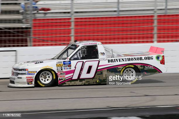Jennifer Jo Cobb Jennifer Jo Cobb Racing Chevrolet Silverado Driven2Honororg during practice for the Ultimate Tailgating 200 NASCAR Gander Outdoors...