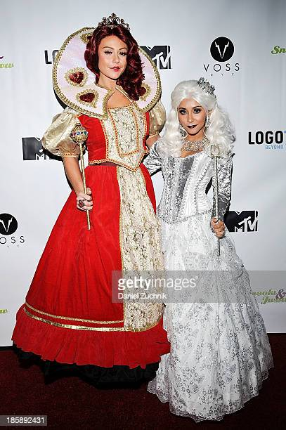 Jennifer 'JWoww' Farley and Nicole 'Snooki' Polizzi attend the Snooki and JWoww Halloween Event 'Night Of The Living Drag' at Providence on October...