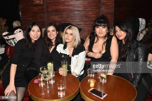 Jennifer Jyan Alexa Arcadi Kelsey Nijowic Nicole Sutton and Courtney Almeida attend the Nicole Miller Fall 2018 Runway Show After Party at Slowly...
