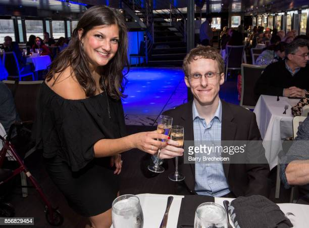 Jennifer Karum and Ryan Atkins at the 'Conrad' series party on the Spirit of Chicago boat event showcasing the new crime drama that focuses on women...