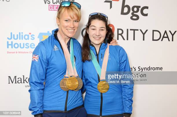 Jennifer Kehoe and Menna Fitzpatrick representing ParalympicsGB attend BGC Charity Day at One Churchill Place on September 11 2018 in London England