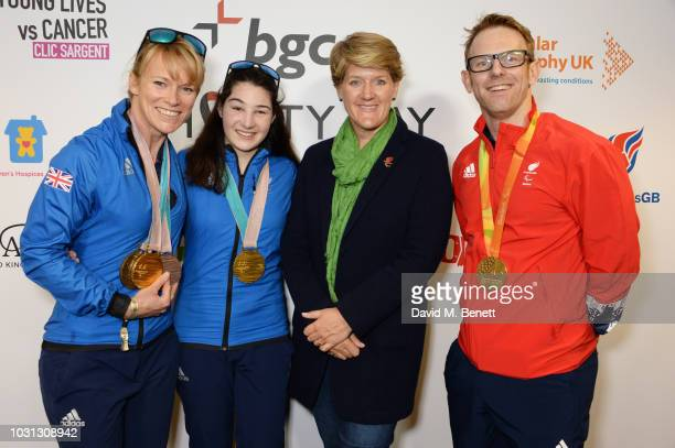 Jennifer Kehoe Menna Fitzpatrick Clare Balding and Jody Cundy representing ParalympicsGB attend BGC Charity Day at One Churchill Place on September...