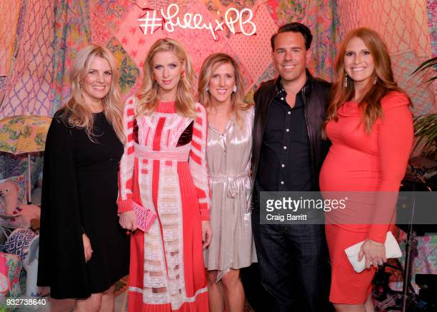 Jennifer Kellor Nicky Hilton Rothschild Allison Spampanato Todd Wandell and Katie Townsend attend the Launch Celebration of the Pottery Barn Pottery...