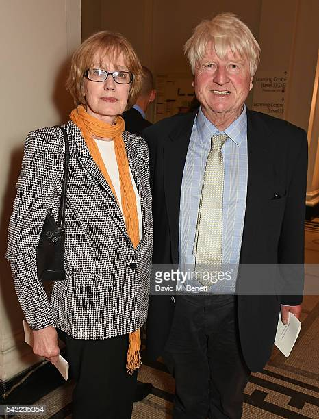 Jennifer Kidd and Stanley Johnson attend a celebration of the Life of Lord George Weidenfeld on June 26 2016 in London England