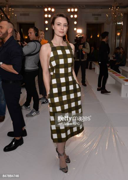 Jennifer Kirby attends the Jasper Conran show during London Fashion Week September 2017 on September 16 2017 in London England