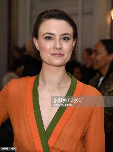 Jennifer Kirby attends the Jasper Conran show during London Fashion Week February 2018 at Claridge's Hotel on February 17 2018 in London England