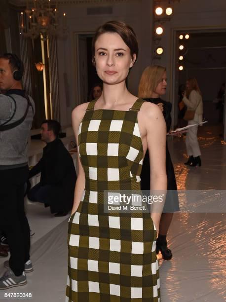 Jennifer Kirby attends the Jasper Conran SS18 catwalk show during London Fashion Week September 2017 on September 16 2017 in London United Kingdom