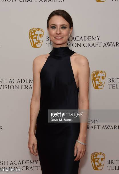 Jennifer Kirby poses in the winners room at the British Academy Television Craft Awards at The Brewery on April 28 2019 in London England