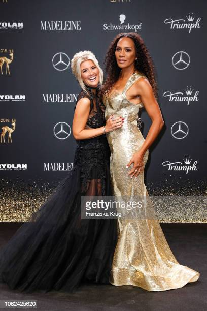 Jennifer Knaeble and Barbara Becker arrive for the 70th Bambi Awards at Stage Theater on November 16 2018 in Berlin Germany