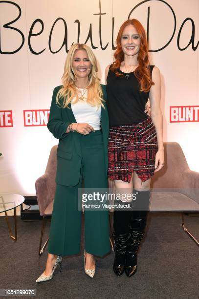 Jennifer Knaeble and Barbara Meier during the Bunte Beauty Days at Messe Muenchen on October 27 2018 in Munich Germany