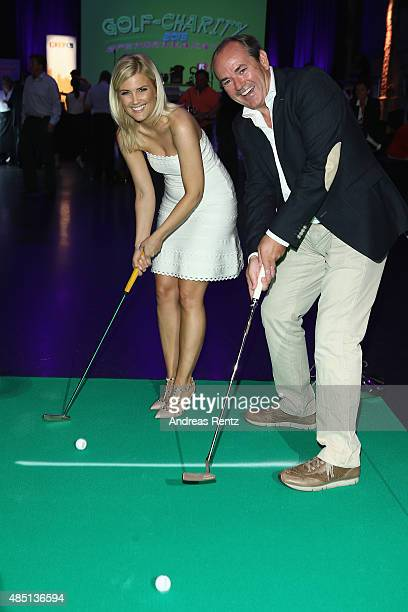 Jennifer Knaeble and Wolfram Kons attend the 'RTL Wir helfen Kindern' Golf Charity 2015 reception on August 24 2015 in Gummersbach Germany