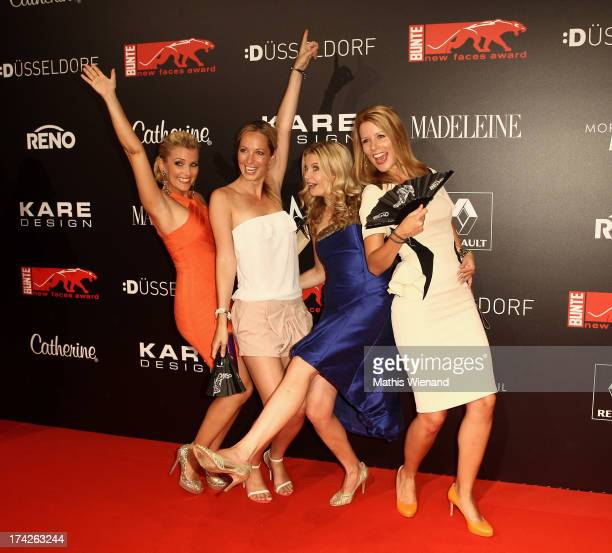 Jennifer Knaeble Angela FingerErben Eva Imhof and Mirjam Lange attend the New Faces Award Fashion 2013 at Rheinterrasse on July 22 2013 in...