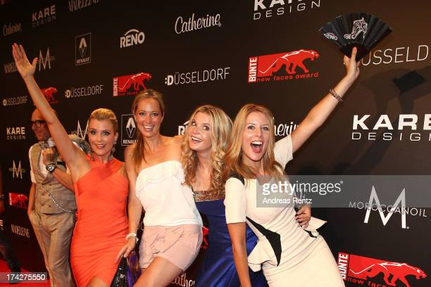 Jennifer Knaeble, Angela Finger-Erben, Eva Imhof and Mirjam Lange attend KARE Design at the New Faces Award Fashion 2013 at Rheinterrasse on July 22,...