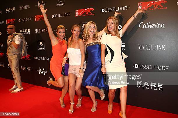 Jennifer Knaeble Angela FingerErben Eva Imhof and Mirjam Lange attend KARE Design at the New Faces Award Fashion 2013 at Rheinterrasse on July 22...