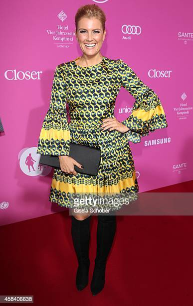 Jennifer Knaeble attends the CLOSER Magazin Hosts SMILE Award 2014 at Hotel Vier Jahreszeiten on November 4 2014 in Munich Germany