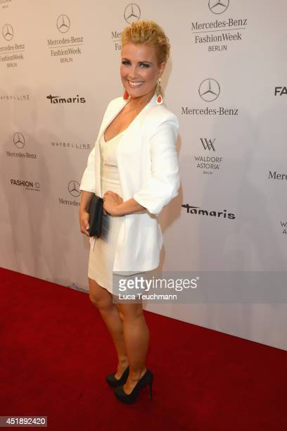 Jennifer Knaeble attends the Glaw show during the MercedesBenz Fashion Week Spring/Summer 2015 at Erika Hess Eisstadion on July 9 2014 in Berlin...