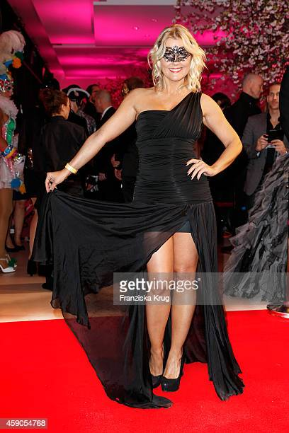 Jennifer Knaeble attends the Hairfree Celebrates 10 Year Anniversary with Bal Masque on November 15 2014 in Darmstadt Germany